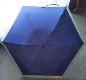 日傘を広げたところ