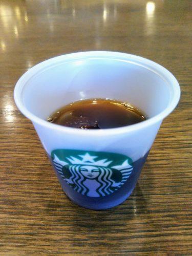 スターバックコーヒーでアイスコーヒー