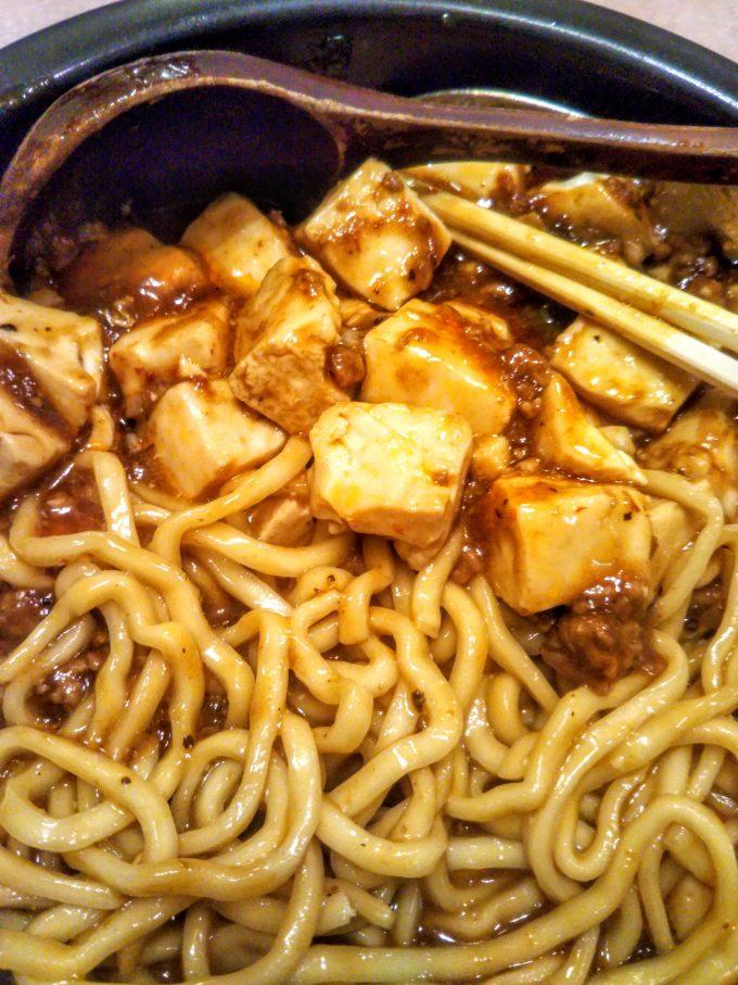 麻婆麺は太麺