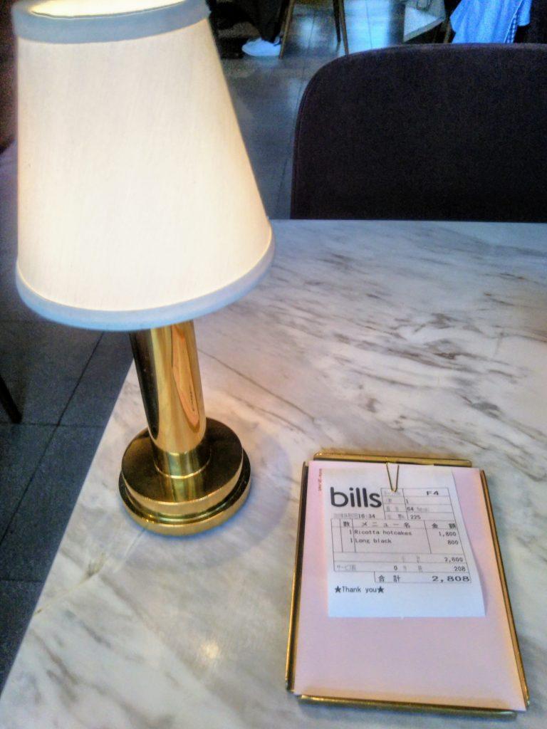 bills銀座お会計